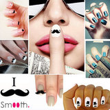 SmoothNails 3D Moustache Nagel Stickers_