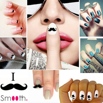 SmoothNails 3D Moustache Nagel Stickers